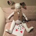 Muñeco conejo en patchwork