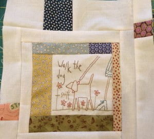 walk the dog Anni Downs quilt