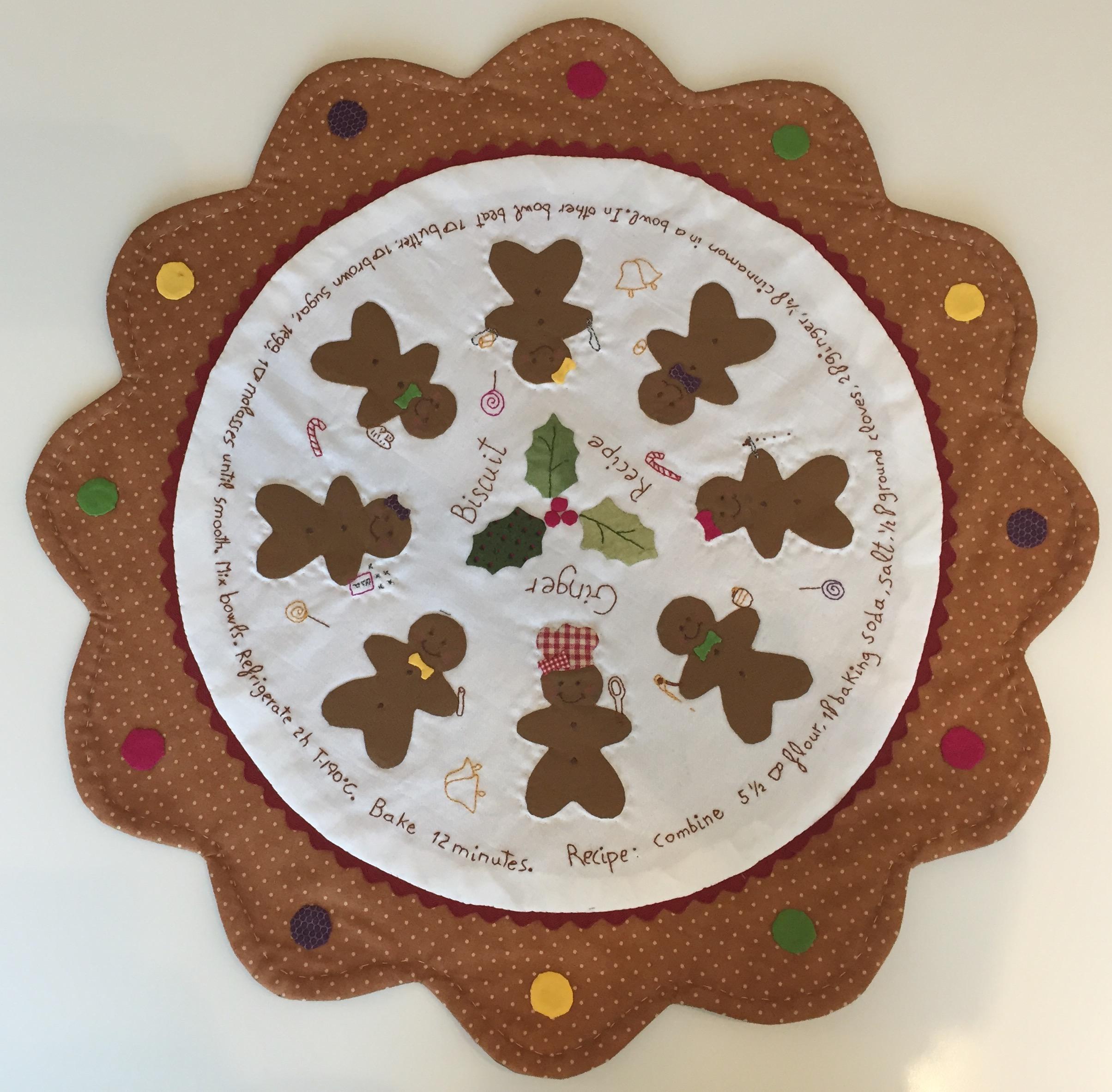Patrón centro de mesa patchwork