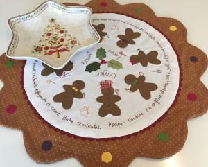 centro de mesa navidad patchwork