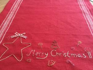 bordado a mano Navidad