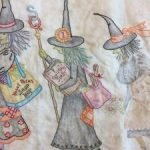 Quilt Mystery Salem Witches bordado
