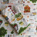 Guante de cocina en patchwork