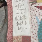 Semana 2 patchwork Gossip Garden quilt
