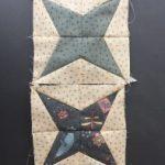 Bloque de patchwork estrella de tela