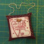Decorando la casa para Navidad en rojo y patchwork