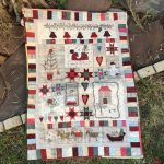 Christmas fun mini quilt de pared