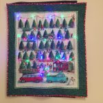 Quilt navidad con luces Best Tree of the Lot