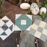 Bloques de patchwork a máquina de coser