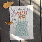 Colcha de Patchwork Gossip in the Garden