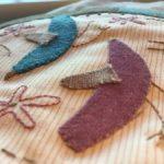 Quilt Miss Rosie´s Garden aplicaciones de lana