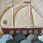 Mi bonito barco aplicado en patchwork
