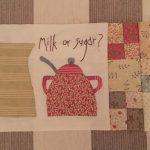 Telas de patchwork leche y té