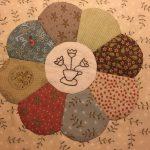 Plato dresdén con telas de navidad de patchwork