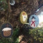 Adornos bolas en tela para árbol Navidad