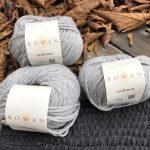 Tejer cuello de lana con ovillo de cashmere