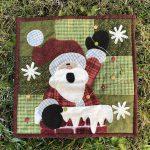 Mi Papá Noel en patchwork mini quilt