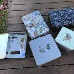 Cómo organizar las labores cajas lata vintage