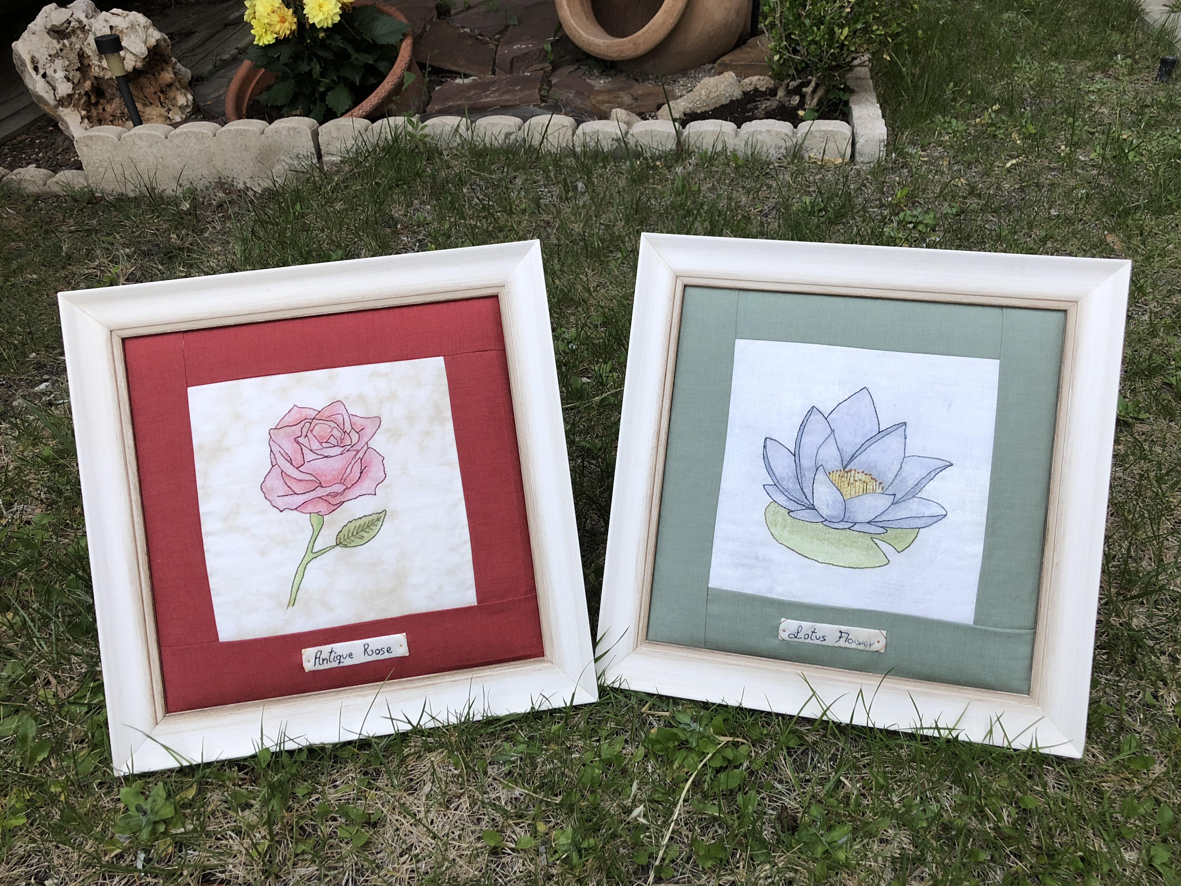 Coleccion De Flores Bordadas A Mano Y Pintadas La Vida En Patchwork