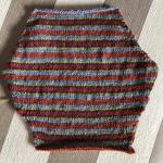 Cómo tejer rayas de colores quilt intarsia