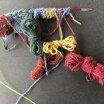 Cómo hacer mariposas de lana para tejer intarsia