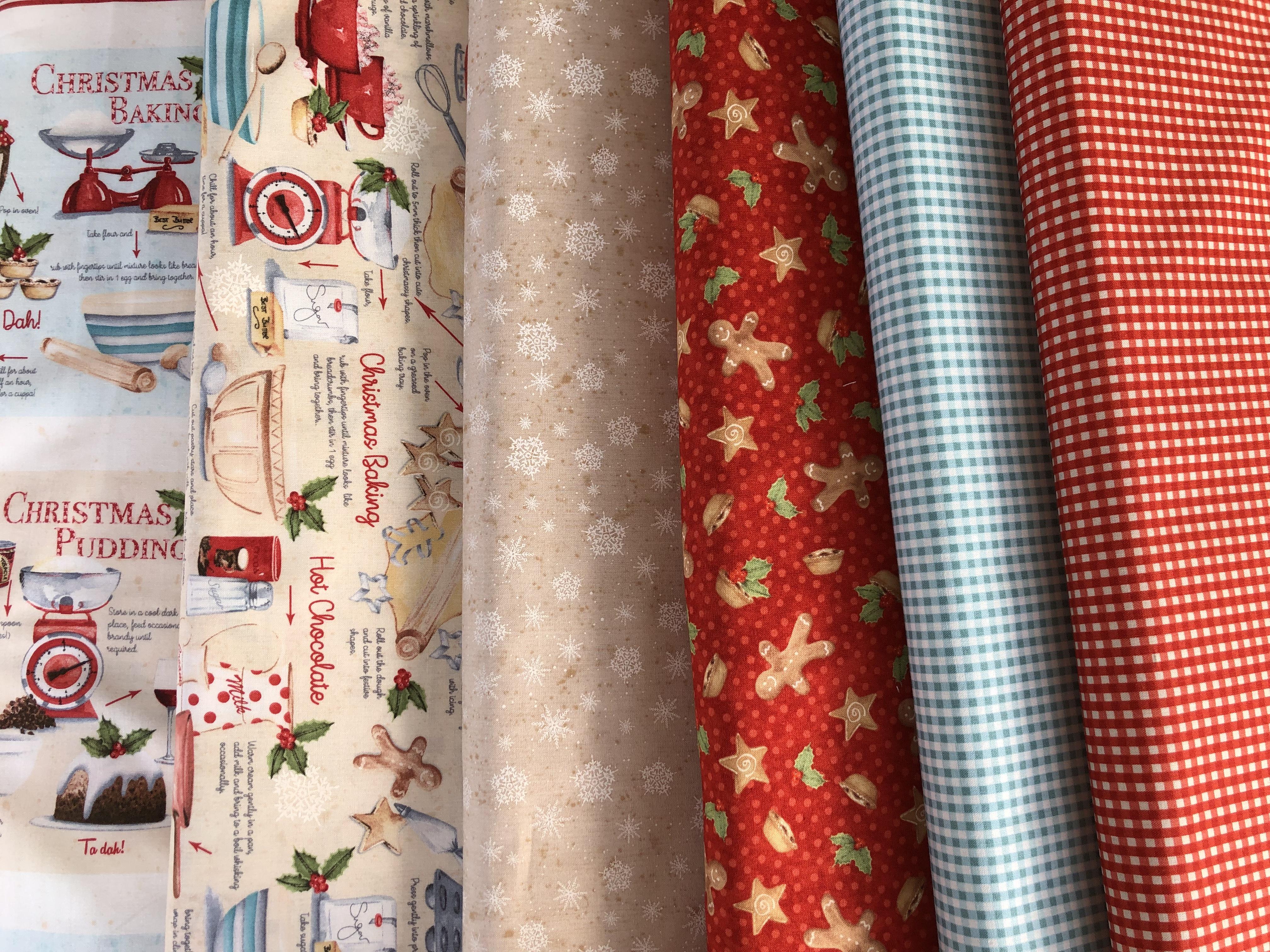Telas De Patchwork Para Cocina En Navidad Panel Con Delantal Y Dibujos - Telas-de-cocina