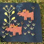 Bloques bordados 1,2 y 4 quilt Folk Tails
