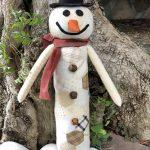 DIY Decorar la casa por Navidad muñeco nieve
