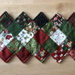 Mini charm pack de telas de Navidad