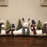 Corta viento puerta muñecos nieve