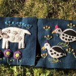 Nuevos bloques bordados quilt Folk Tails