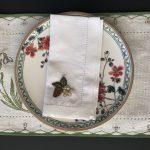 Servilletas de lino bordadas a mano