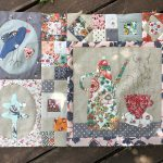 Bloque 1 quilt Where We Love is Home de Anni Downs