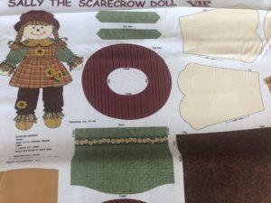 Panel tela muñeco patchwork