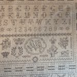 Paneles de lino con letras para bordar de French General