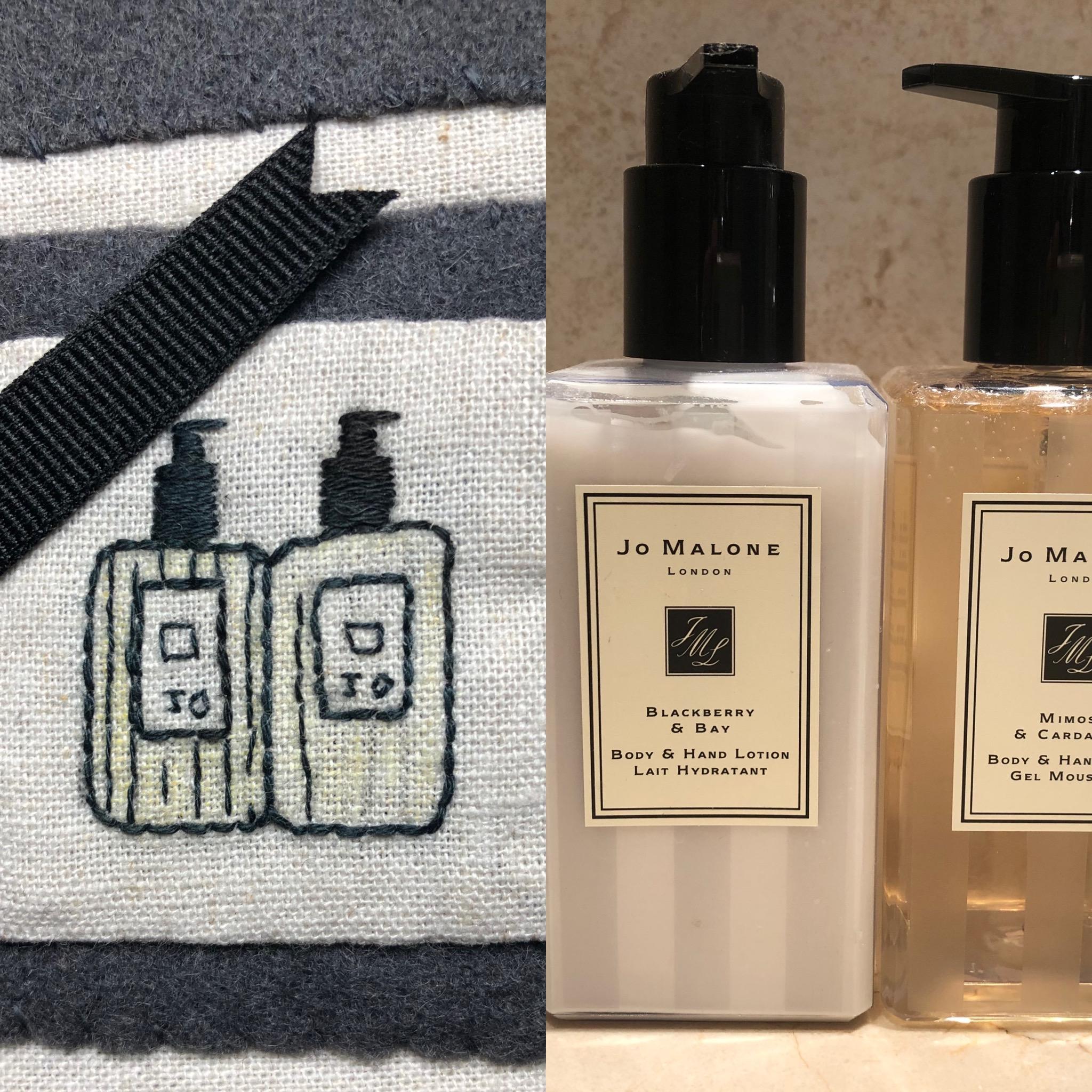 Jo Malone bordado a mano jabón manos y crema