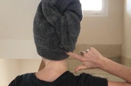 Turbante de baño kit costura